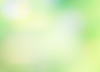 Abstract green blurred gradient background with sunlight. Nature backdrop. Vector illustration. Ecology concept for your graphic design, banner or poster