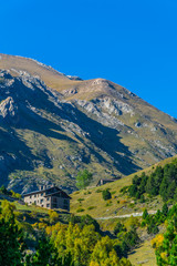 Fototapete - Pyrenees mountains viewed from Andorra