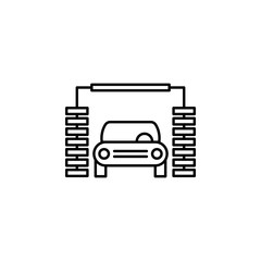 car, wash, machine outline icon. Can be used for web, logo, mobile app, UI, UX