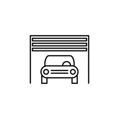 car, inside, garage outline icon. Can be used for web, logo, mobile app, UI, UX