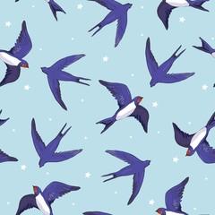 swallow bird pattern