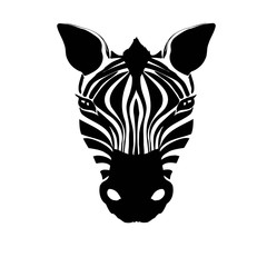 Vector illustration of abstract zebra head on a white background