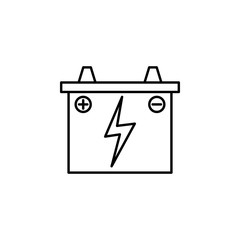 battery, car outline icon. Can be used for web, logo, mobile app, UI, UX