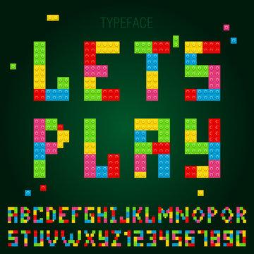 typeface lego blocks