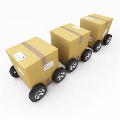 Cardboard boxes convoy