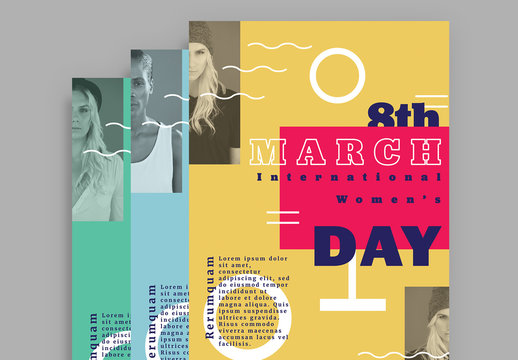 International Women's Day Creative Event Flyer Layouts