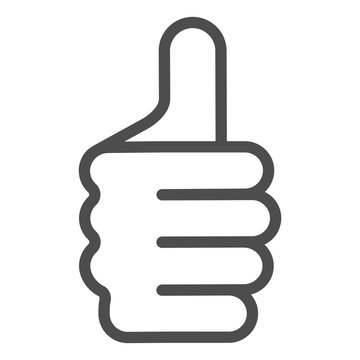 Thumb up gesture line icon. Like vector illustration isolated on white. Ok hand gesture outline style design, designed for web and app. Eps 10.