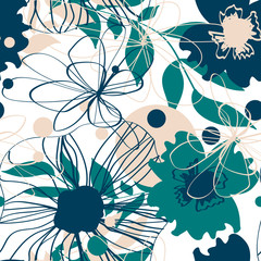 Floral seamless pattern. Good for wallpaper, background, print on fabric, packaging decor and more