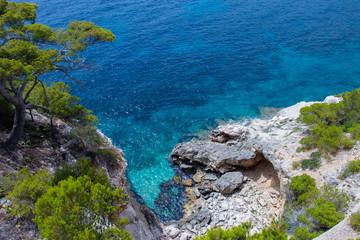 Beautiful colours of the mediterranean sea.