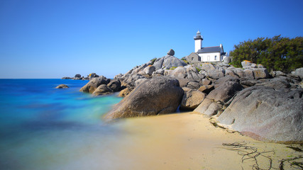 Pontusval lighthouse in Brittany
