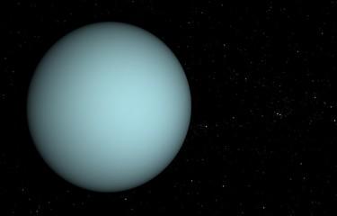 Solar System - Uranus. 3D illustration.