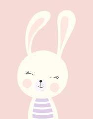 card with cute bunny