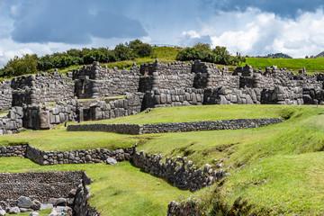 Wehranlage der Inka, die Sacsayhuaman Festung, in Cusco, Peru