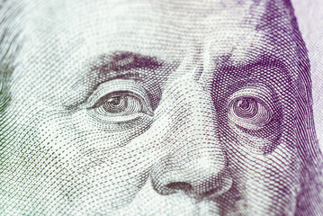 us national currency hundred dollars close up