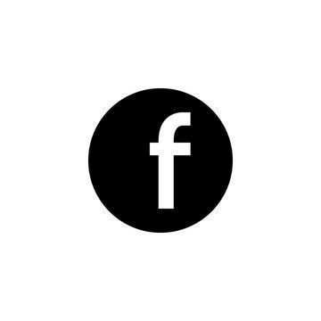 Letter F. Flat web icon. facebook social network logo. Vector symbol EPS10