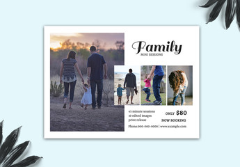 Photography Card Layout with Multiple Photo Placeholders