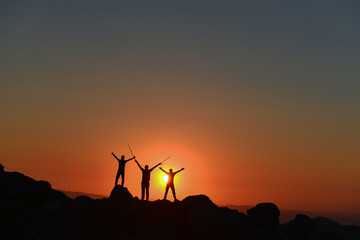 spectacular sunrise and the team's success