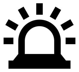 Siren Alert Vector Icon