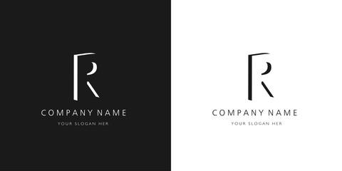 r logo letter design