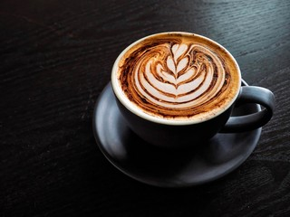 Cappuccino With Beautiful Latte Art