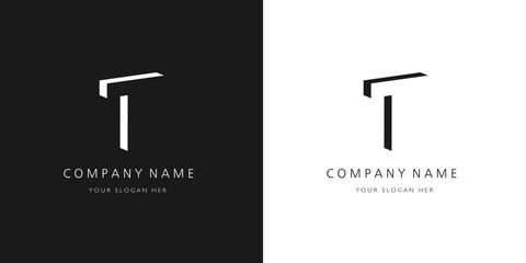 t logo letter design