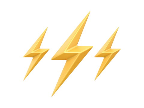 Weather icon THUNDER 3D