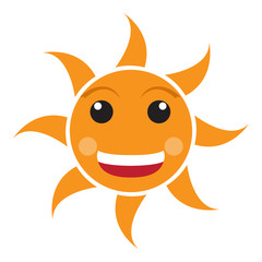Isolated happy sun image. Vector illustration design