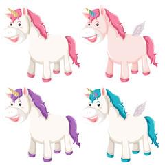 Set of different unicorn