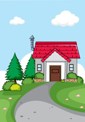 A simple house background