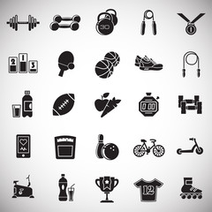 Healthy life icons set on white background for graphic and web design, Modern simple vector sign. Internet concept. Trendy symbol for website design web button or mobile app