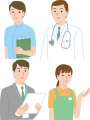医療や福祉サービスにかかわるスタッフ