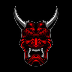 Evil Samurai Ronin vector illustration
