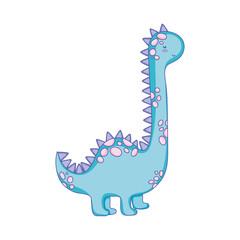 cute apatosaurus character icon