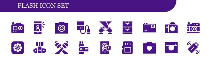 flash icon set