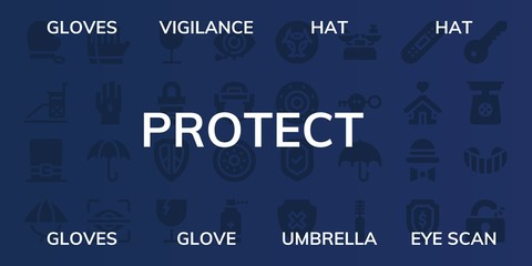 protect icon set