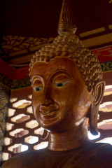 The stucco Buddha statue in the ancient