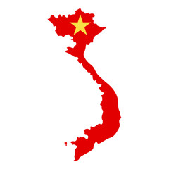map of Vietnam - flag