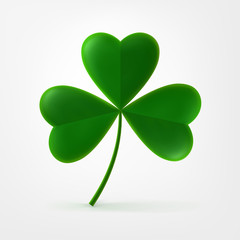 Vector three-leaf shamrock clover icon