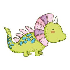 cute dinosaur character icon