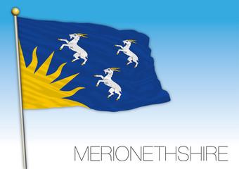 Marionethshire county flag, United Kingdom, vector illustration