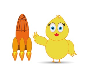 chick and rocket
