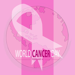 World cancer day concept. February 4