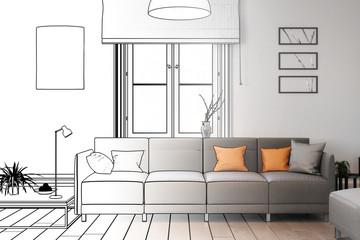 Modernes Sofa (Zeichnung)