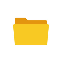 Folder icon, modern minimal flat design style, vector illustration