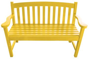 banc de jardin en bois jaune