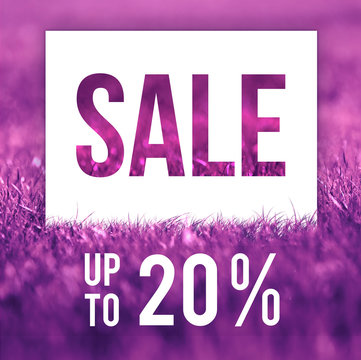 Spring sale poster. 20 off discount promotion sale.