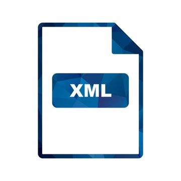Vector XML Icon