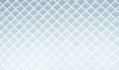 Close up of abstract geometric structure white wall .