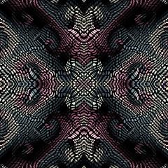 Vector mosaic art pattern. Curved mosaic image