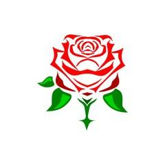 Flower icon or logo, Rose logo